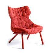 Fotel Foliage czerwona rama czerwona wełna - małe zdjęcie