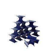 Stojak na wino Infinity kobaltowy - małe zdjęcie