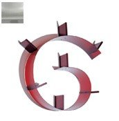 Półka Bookworm 7 podpórek nieprzeźroczysta srebrna - małe zdjęcie