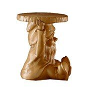 Stołek-stolik Gnomes Attila złoty - małe zdjęcie