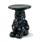 Stołek-stolik Gnomes Napoleon czarny - małe zdjęcie