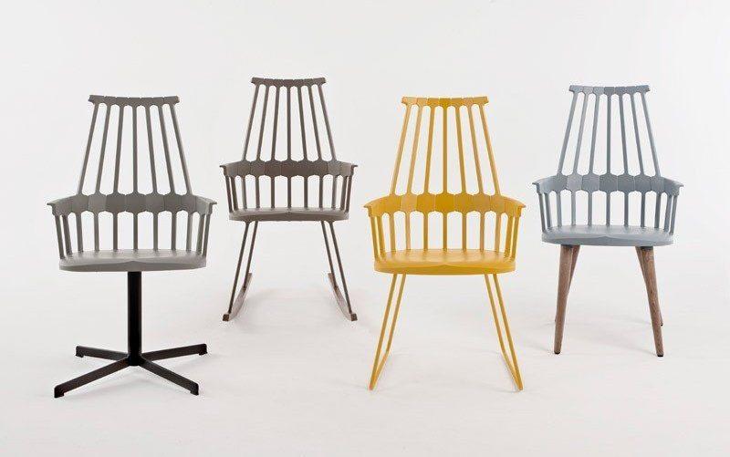 Niesamowite Krzesło na drewnianych nogach Comback - Kartell, Patricia Urquiola RM36