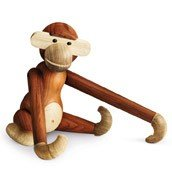 Dekoracja drewniana małpa duża