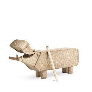 Dekoracja drewniana hipopotam