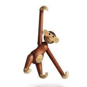 Dekoracja drewniana małpa mała