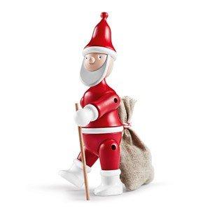 Dekoracja drewniana Mikołaj