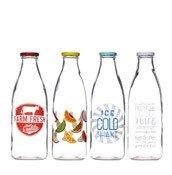 Butelki szklane 4 szt. Home Made - zdjęcie 1