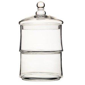 Etażerka dwupoziomowa ze szklaną kopułą Artesa