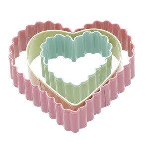 Foremki do ciastek Hearts 3 szt.