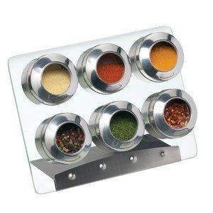 Stojak na przyprawy magnetyczny z 6 pojemnikami Kitchen Craft