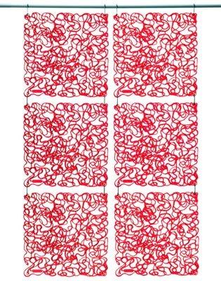 Panel dekoracyjny Fusion czerwony