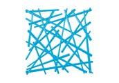 Panel dekoracyjny Stixx intensywnie niebieski przezroczysty
