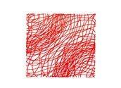 Panel dekoracyjny Silk czerwony