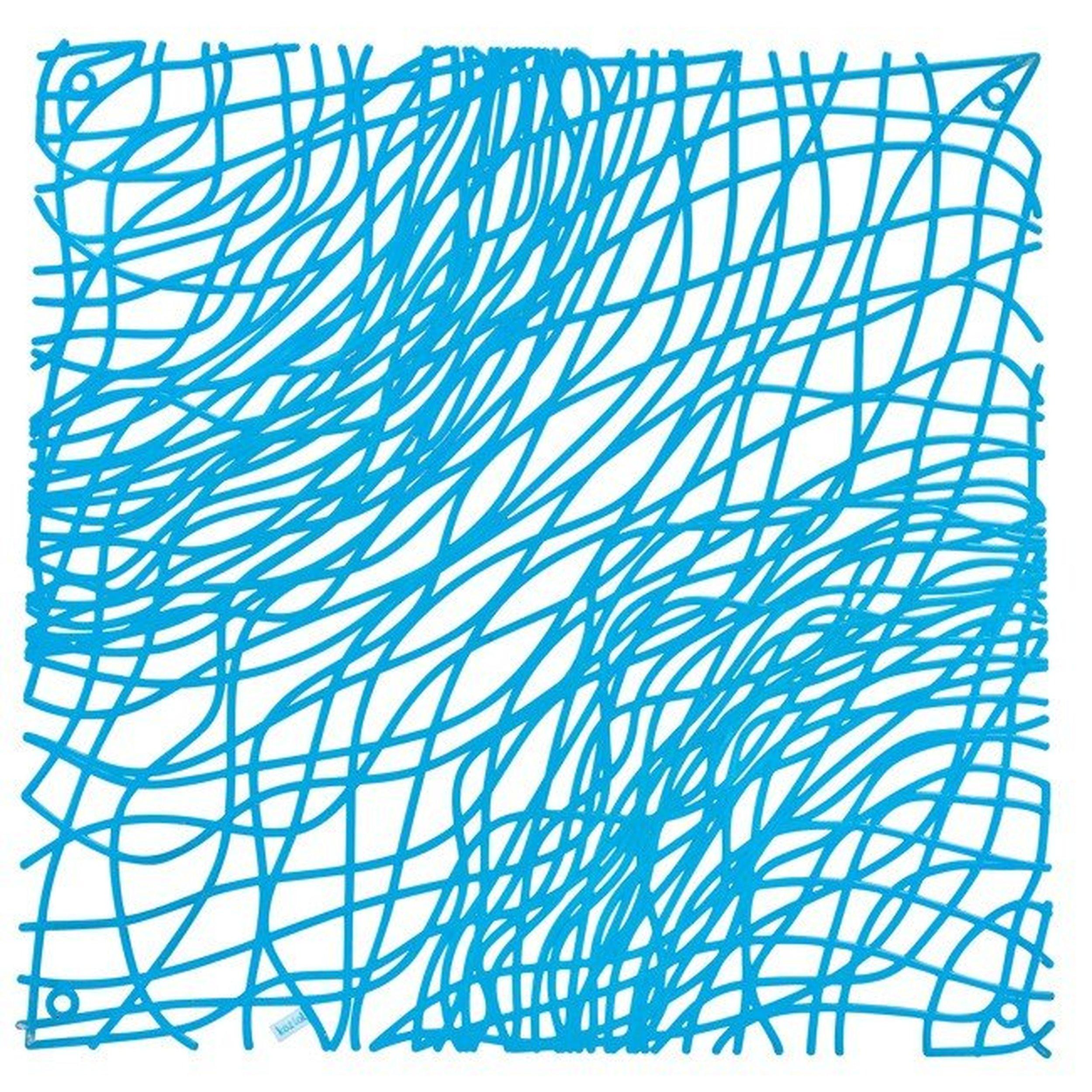 Panel dekoracyjny Silk intensywnie niebieski