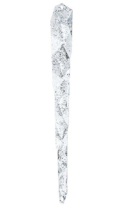 Dekoracyjny sopel I-C transparentny ze srebrną poświatą