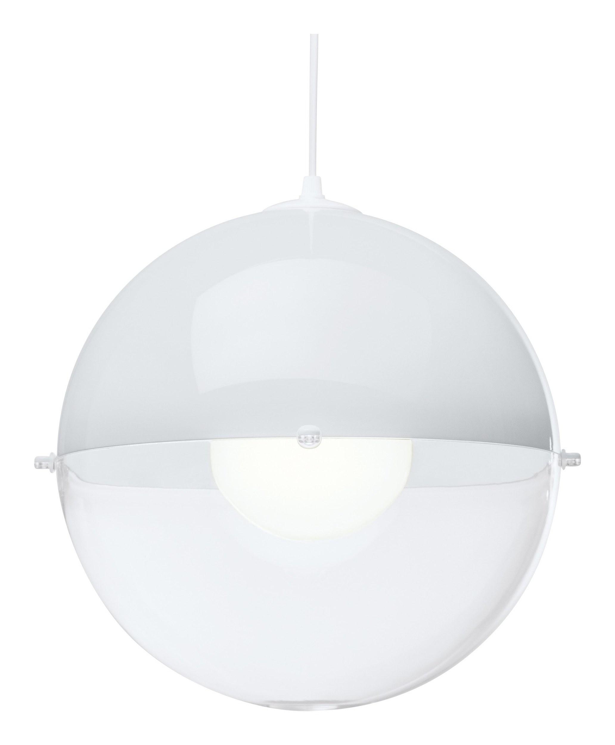 Lampa Orion biała nieprzezroczysta