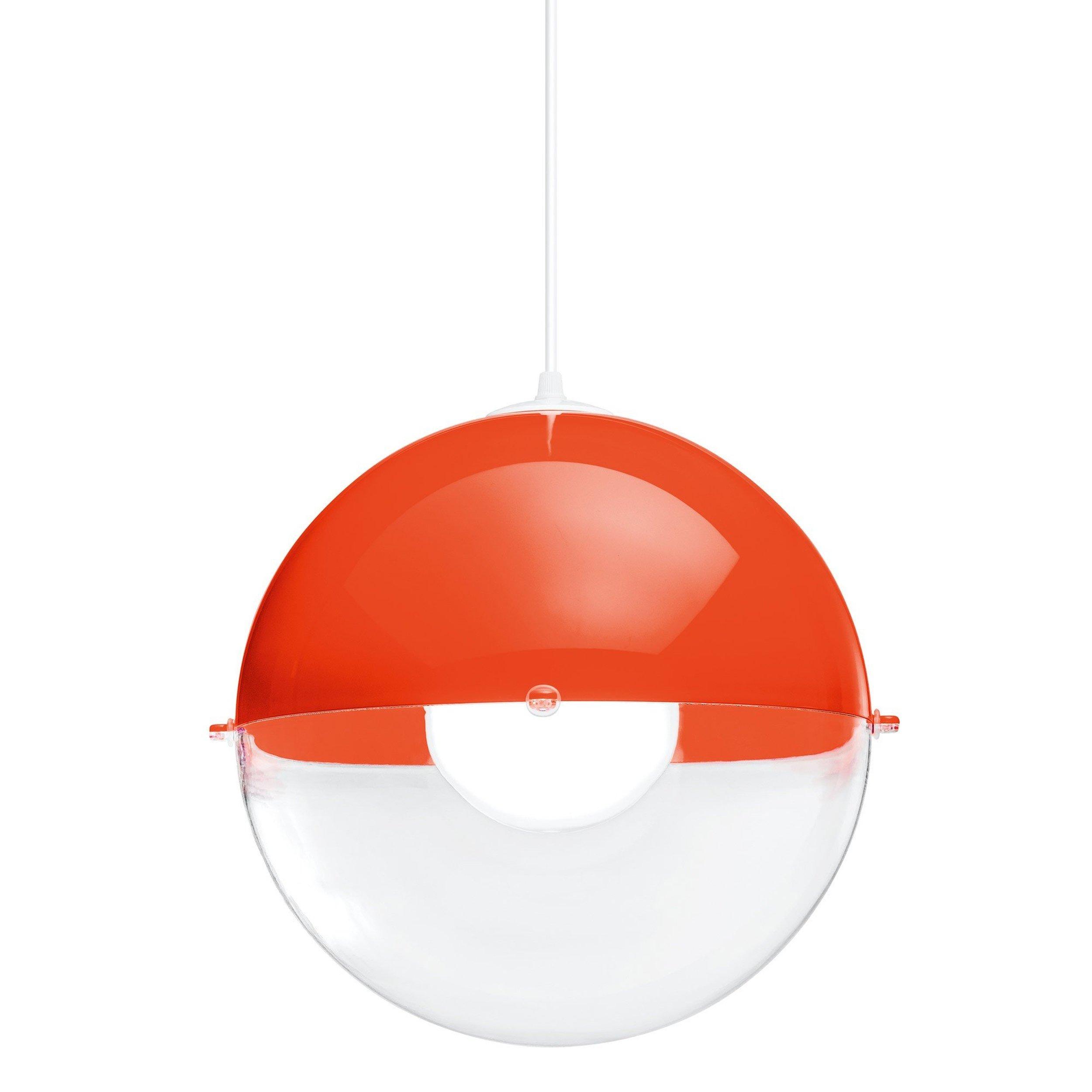 Lampa Orion pomarańczowoczerwona nieprzezroczysta