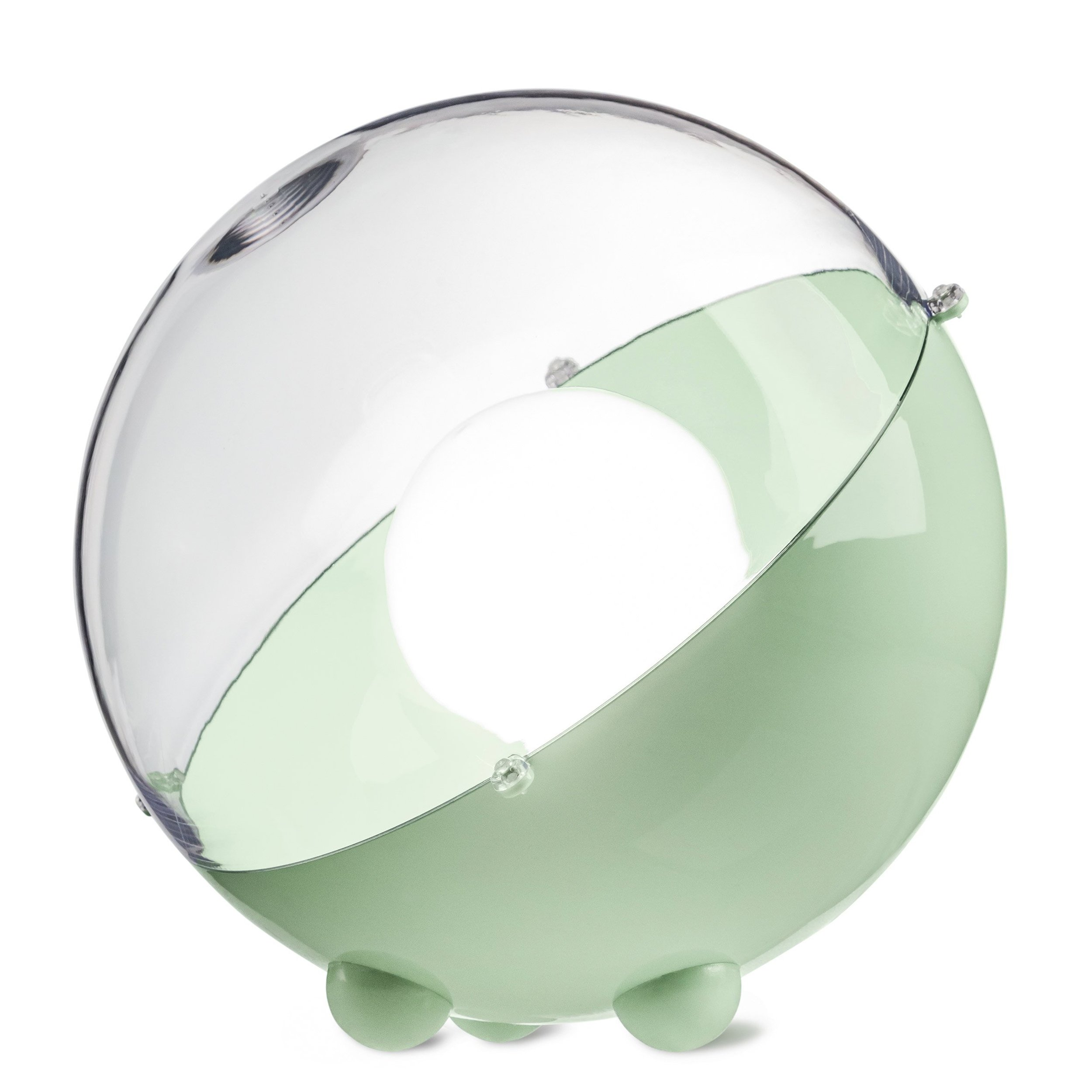 Lampa podłogowa Orion miętowa z transparentną pokrywą