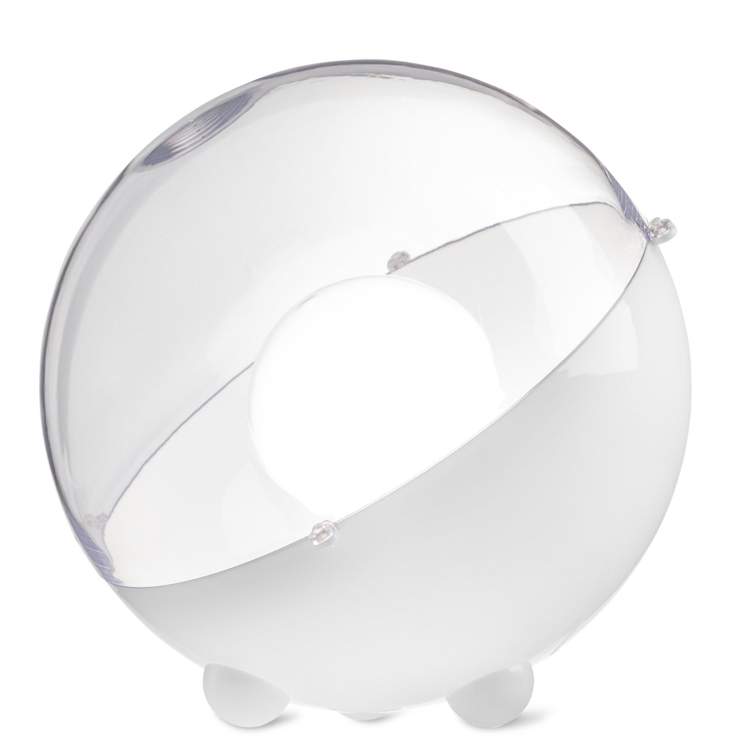 Lampa podłogowa Orion biała z transparentną pokrywą