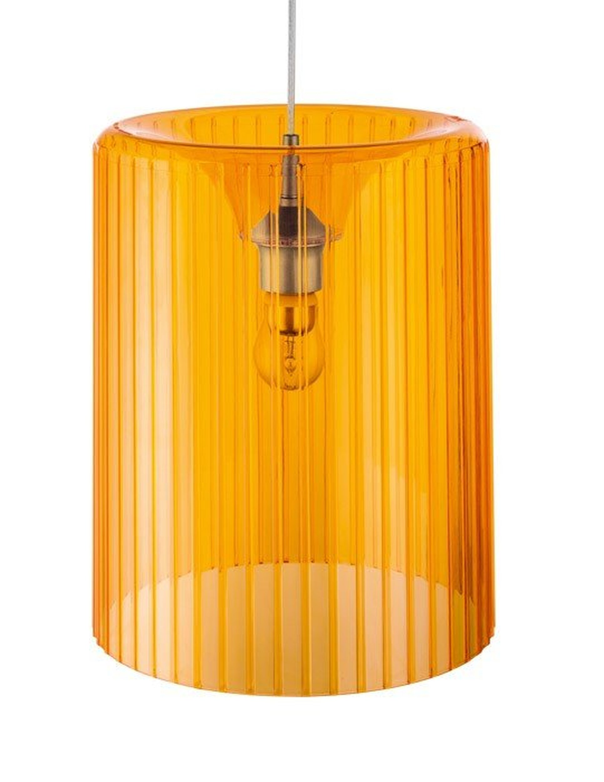 Lampa Roxanne transparentna pomarańczowa