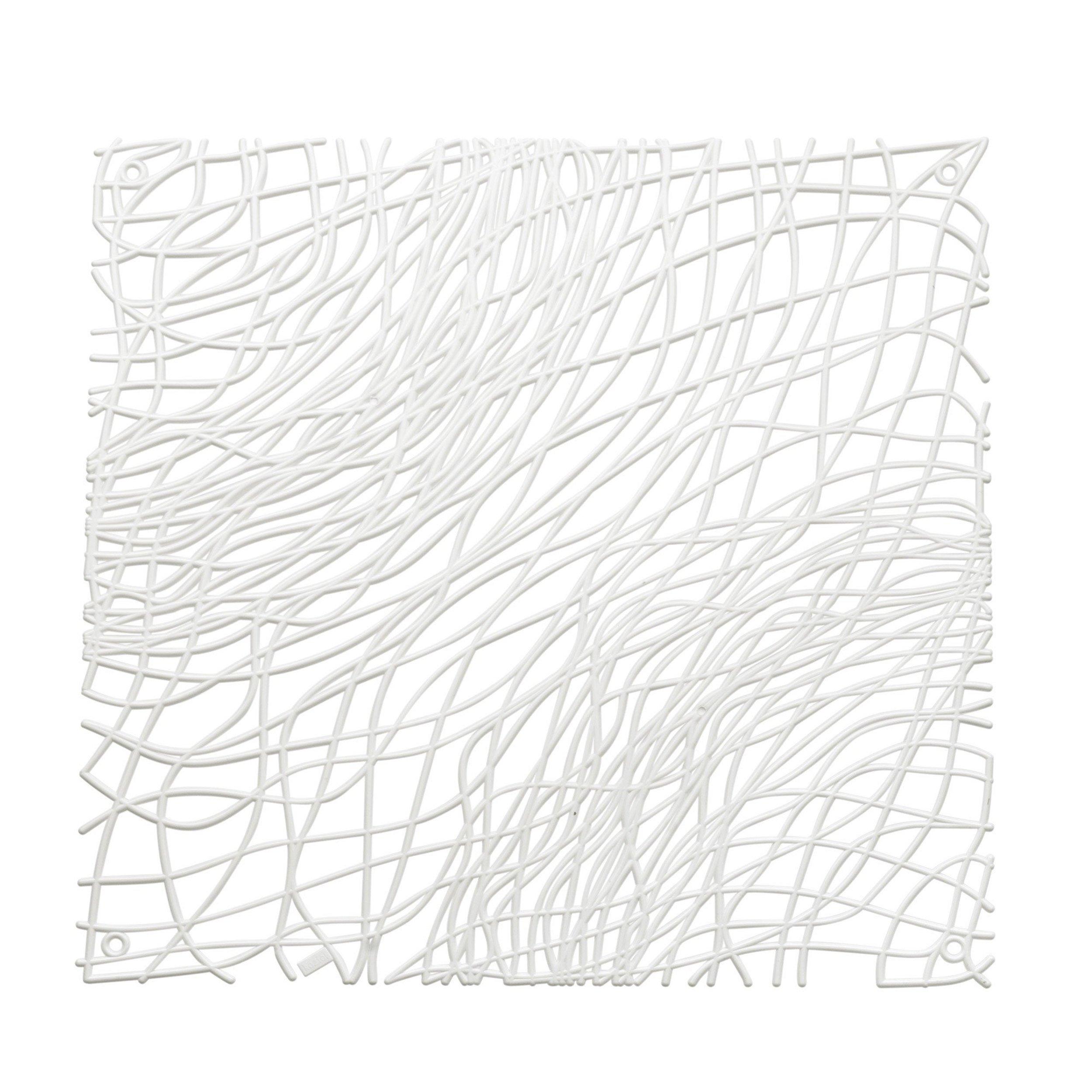 Panel dekoracyjny Silk 4 szt. biały