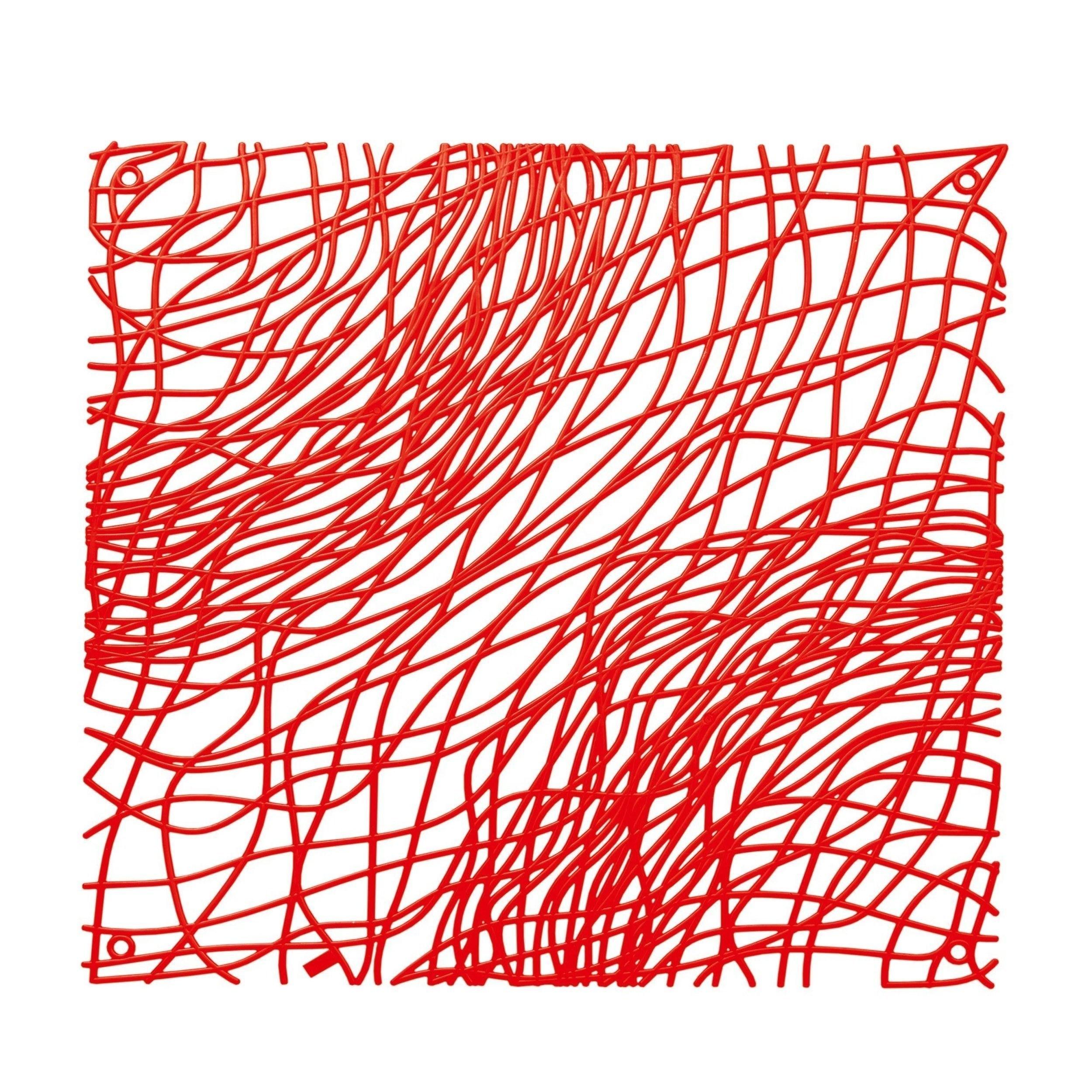 Panel dekoracyjny Silk 4 szt. czerwony transparentny