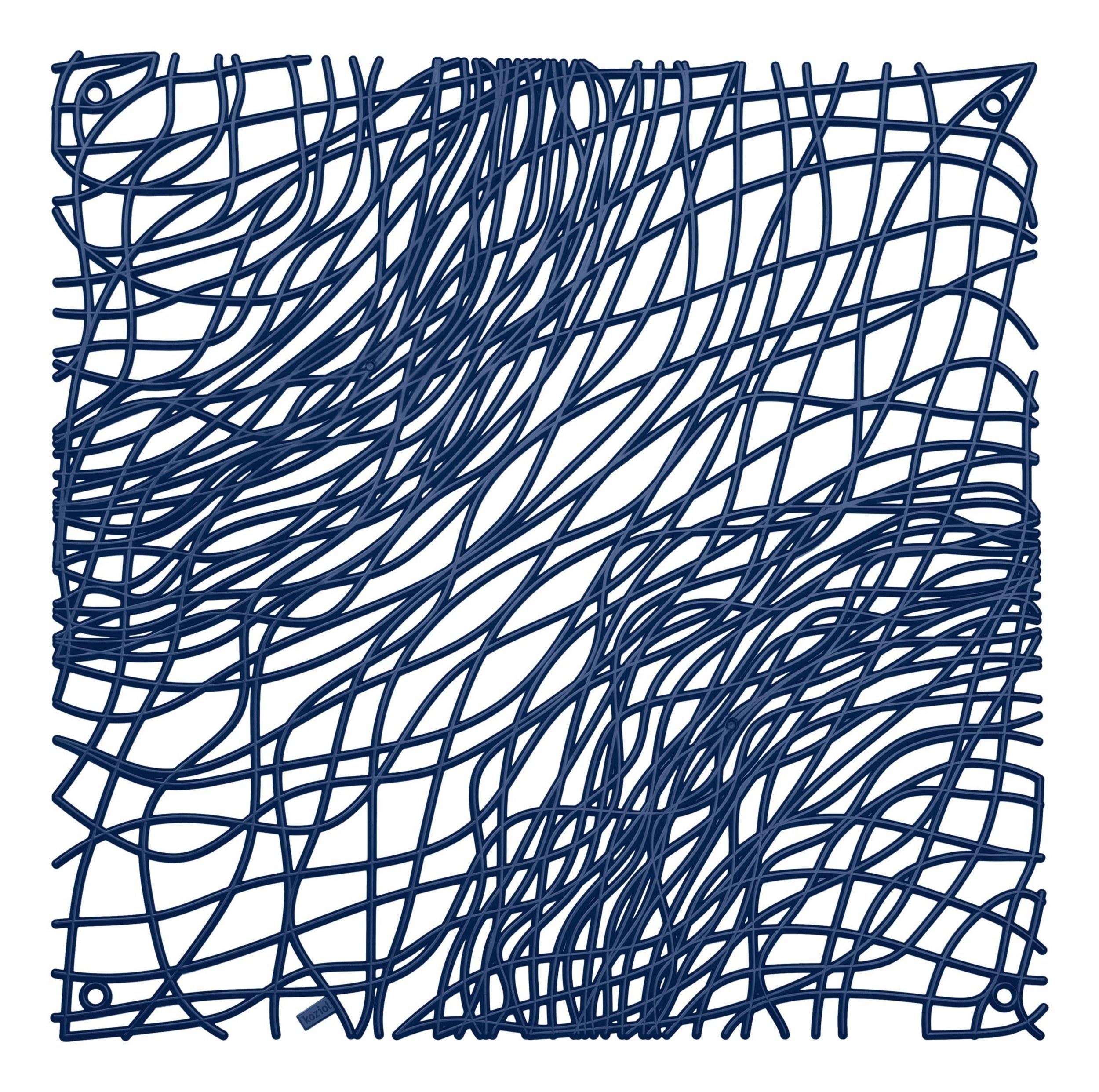 Panel dekoracyjny Silk 4 szt. welwetowy błękit