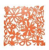 Panel dekoracyjny Alice 4 szt. pomarańczowy transparentny - małe zdjęcie