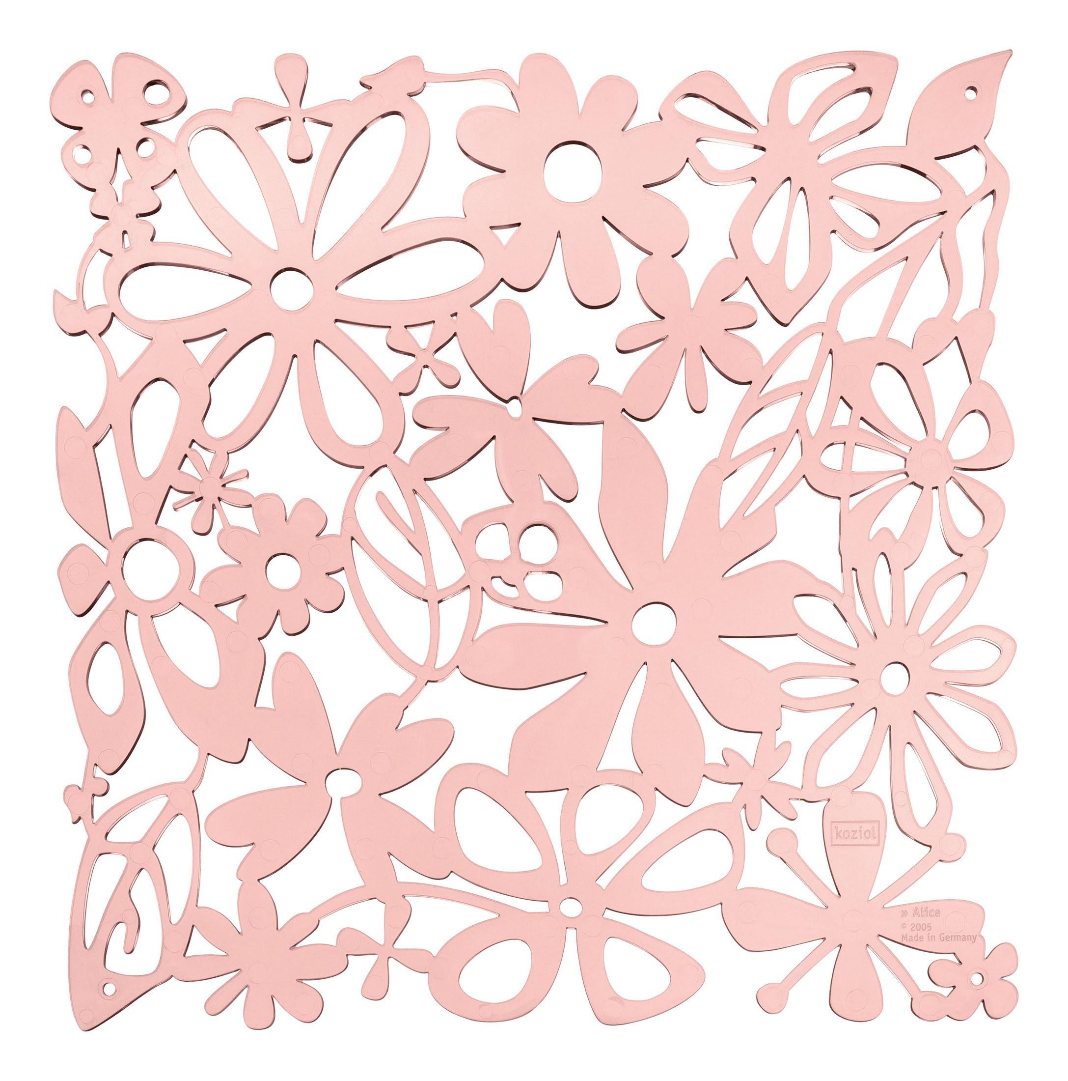 Panel dekoracyjny Alice 4 szt. pastelowy róż