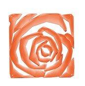 Panel dekoracyjny Romance 4 szt. pomarańczowoczerwony transparentny - małe zdjęcie