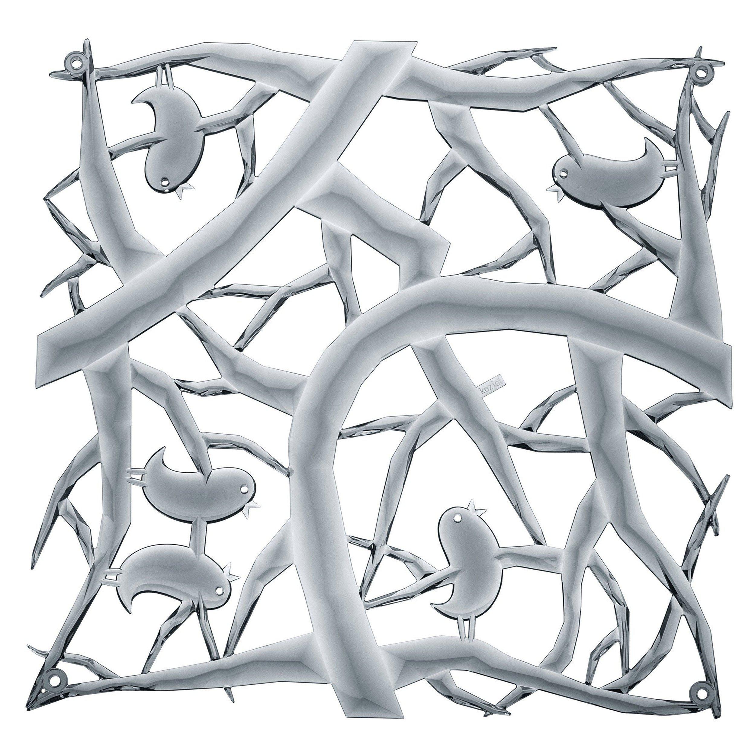 Panel dekoracyjny Pi:P 4 szt. antracytowy transparentny