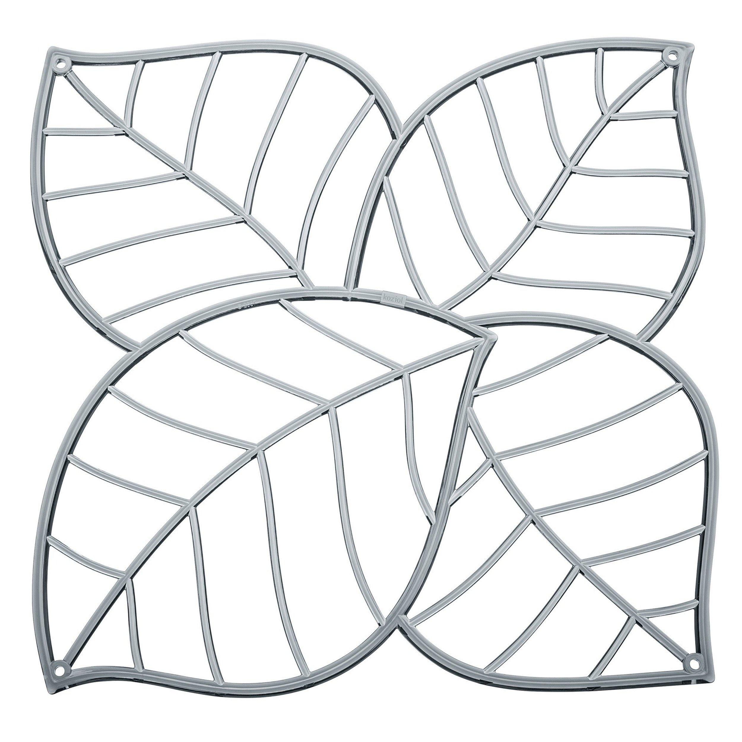 Panel dekoracyjny Leaf 4 szt. anytracytowy transparentny
