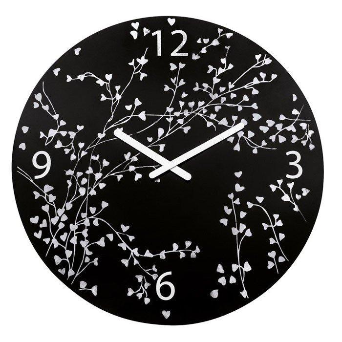 Zegar ścienny Rosi czarny