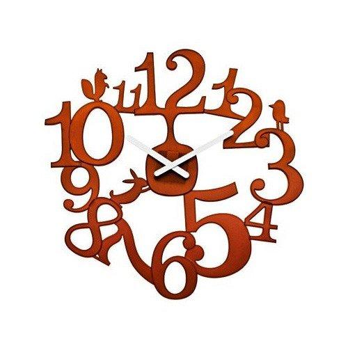 Zegar ścienny Pi:P brązowy