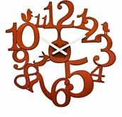 Zegar �cienny Pi:P br�zowy