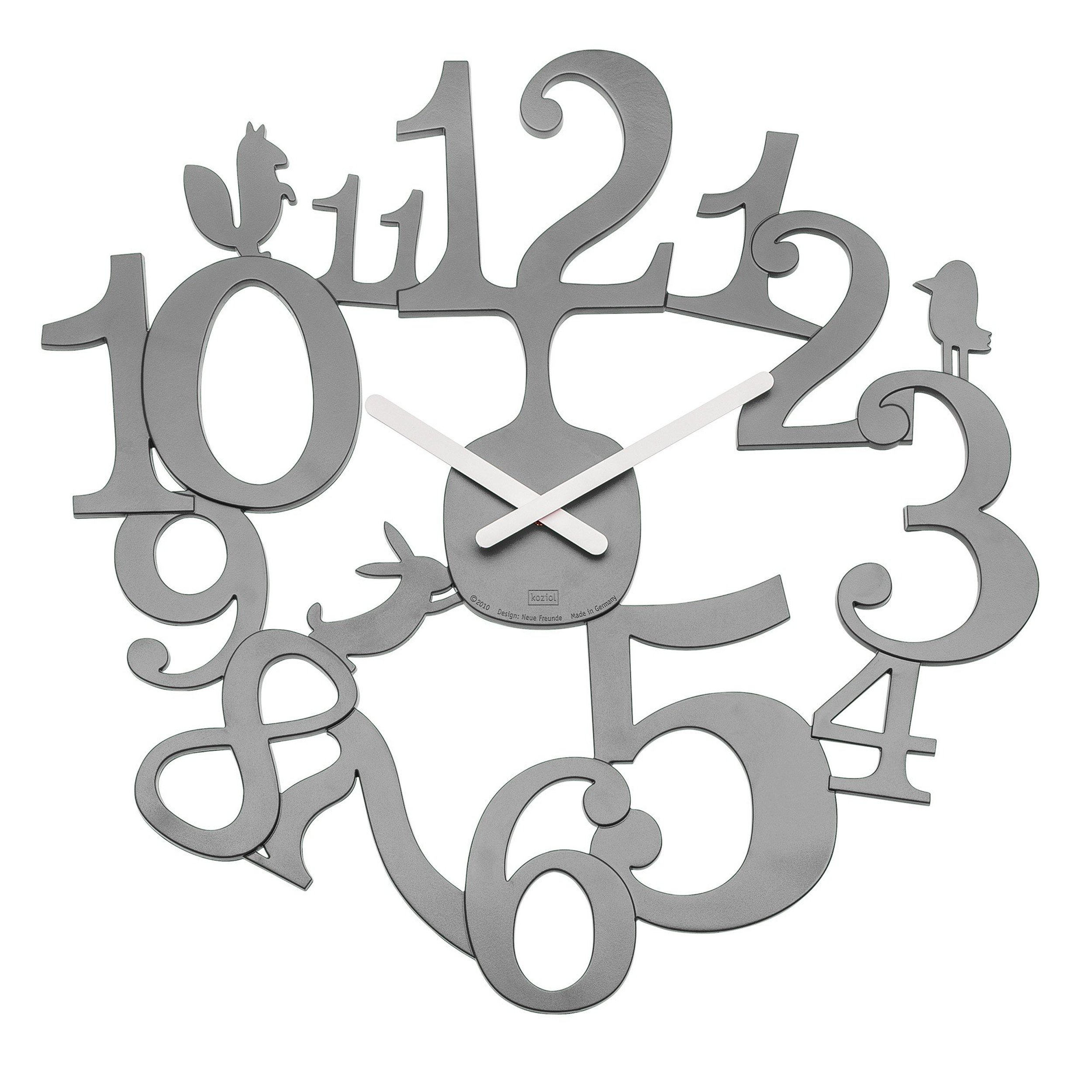 Zegar ścienny Pi:P szary