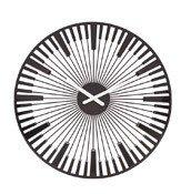 Zegar ścienny Piano czarny - małe zdjęcie