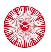 Zegar ścienny Piano czerwony transparentny - małe zdjęcie