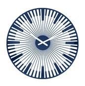 Zegar ścienny Piano welwetowy błękit