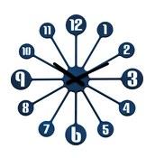 Zegar ścienny Pinball welwetowy błękit