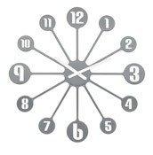 Zegar ścienny Pinball szary