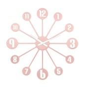 Zegar ścienny Pinball pudrowy róż