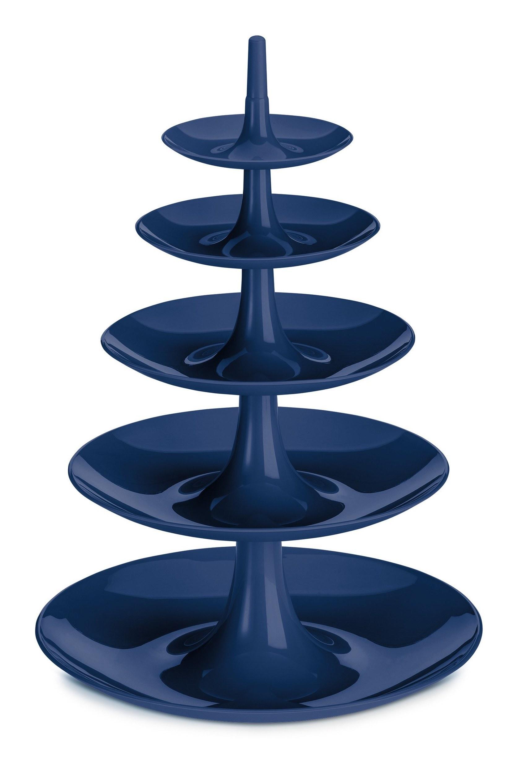 Etażerka Babell Big welwetowy błękit