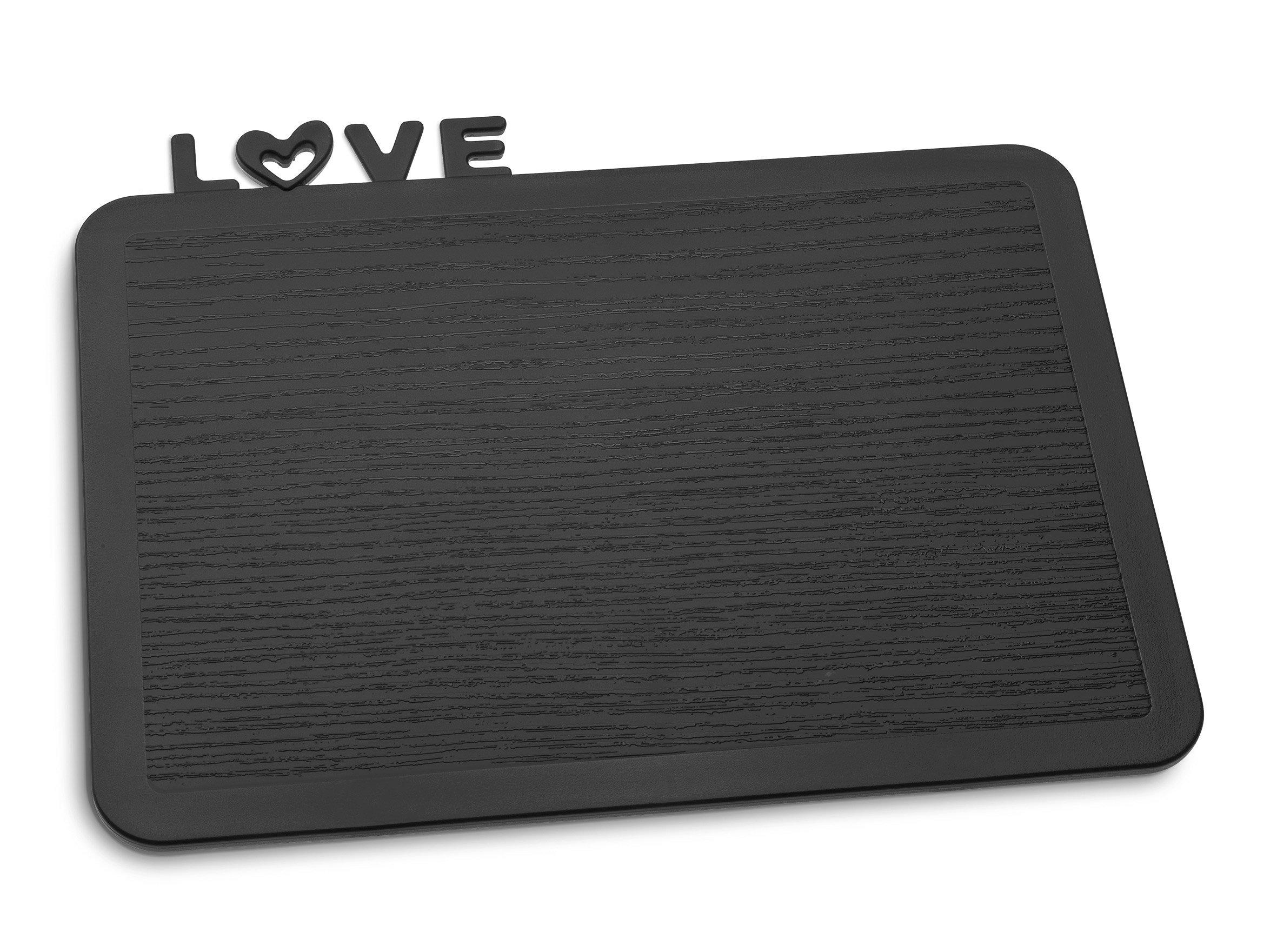 Deska śniadaniowa Happy Boards Love czarna