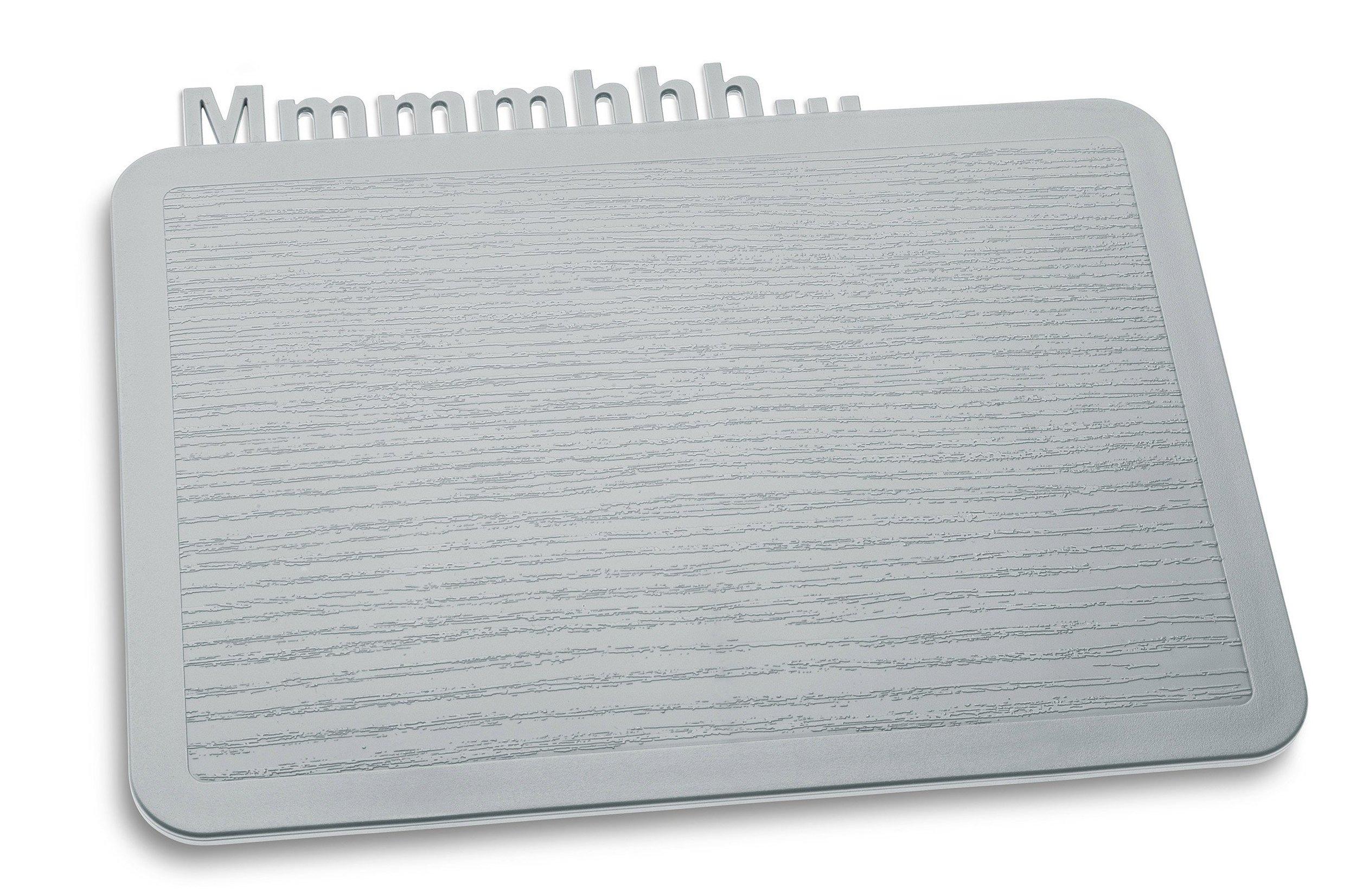 Deska śniadaniowa Happy Boards Mmmmhhh... szara