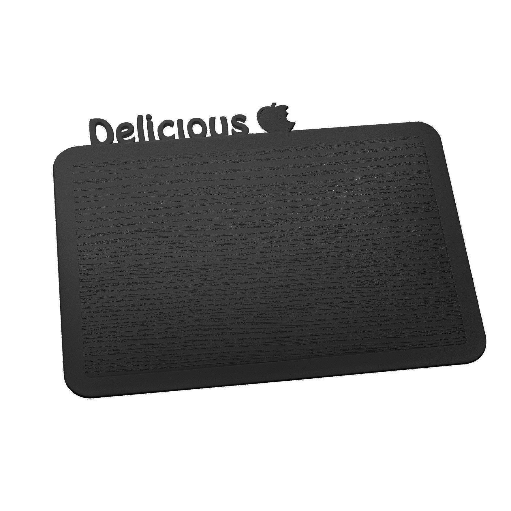 Deska śniadaniowa Happy Boards Delicious czarna