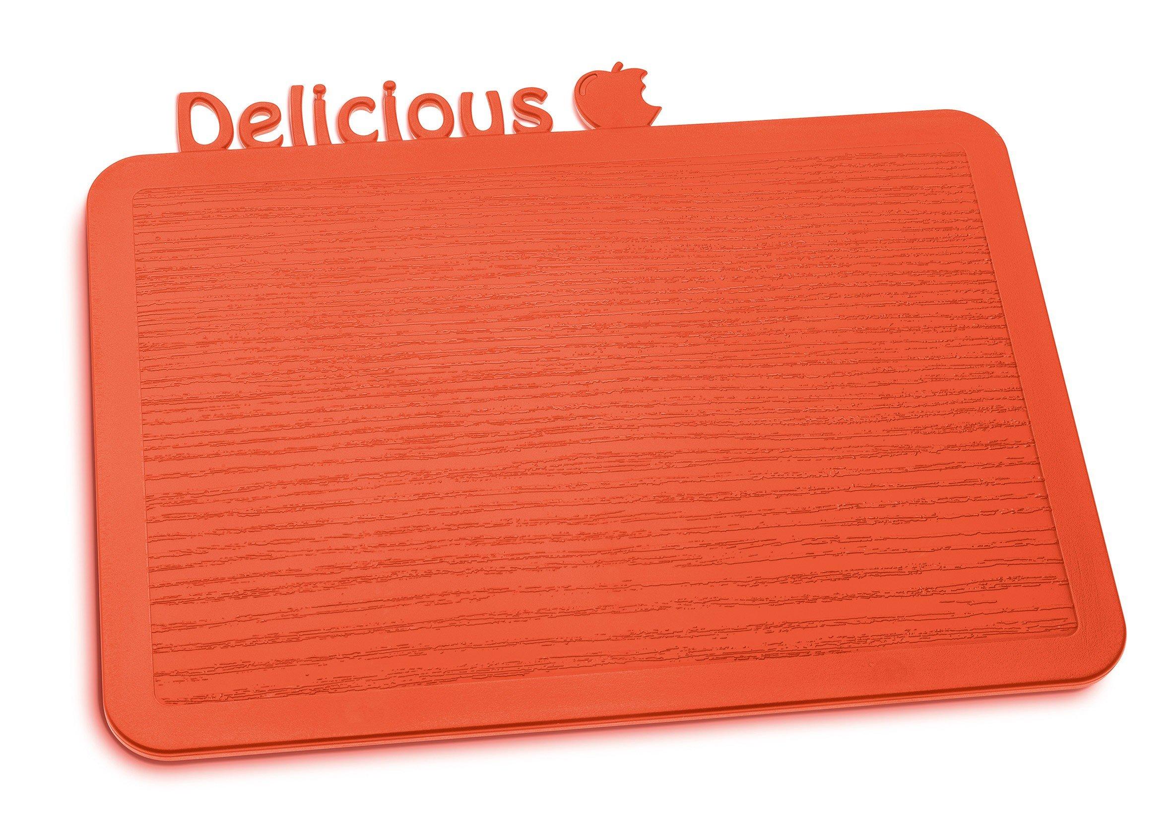 Deska śniadaniowa Happy Boards Delicious pomarańczowoczerwona
