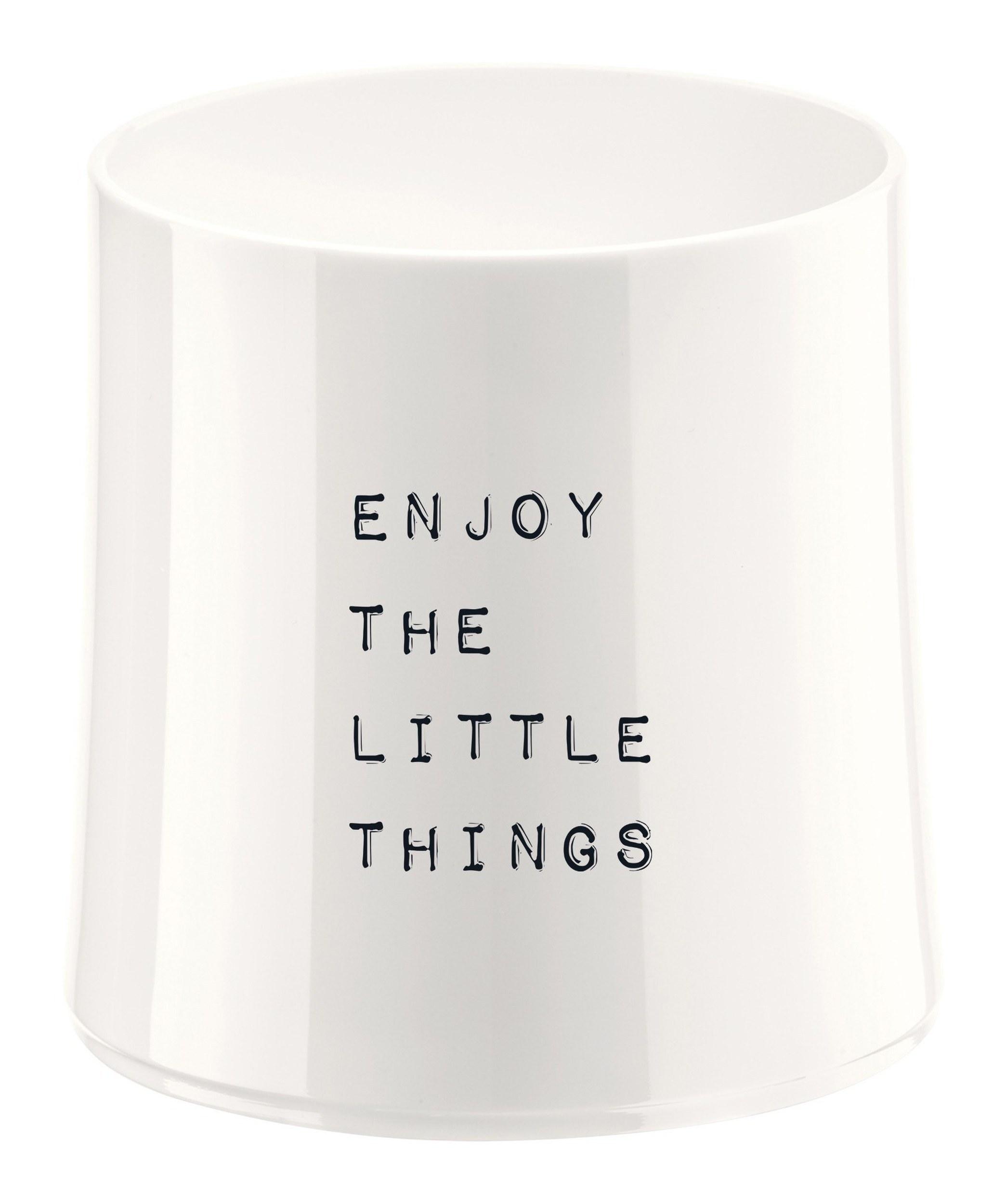 Szklanka Cheers biała z ilustracją Enjoy the Little Things
