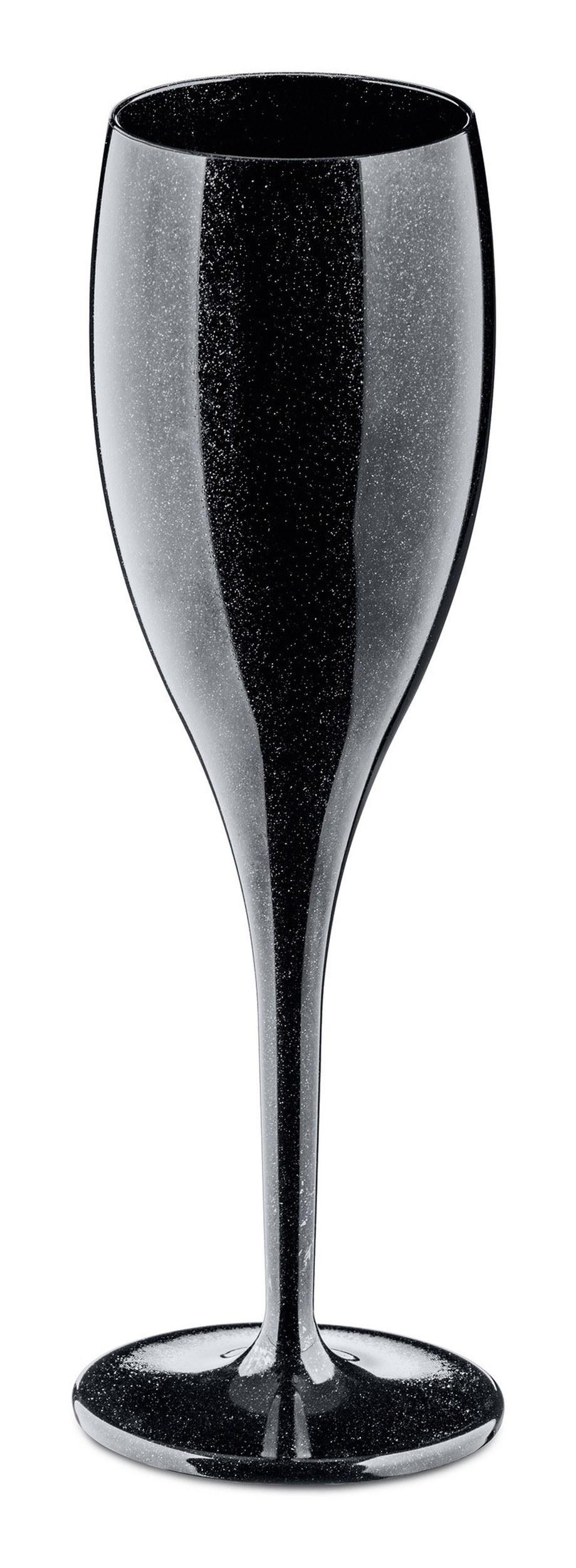 Kieliszki do szampana Cheers 4 szt. czarne