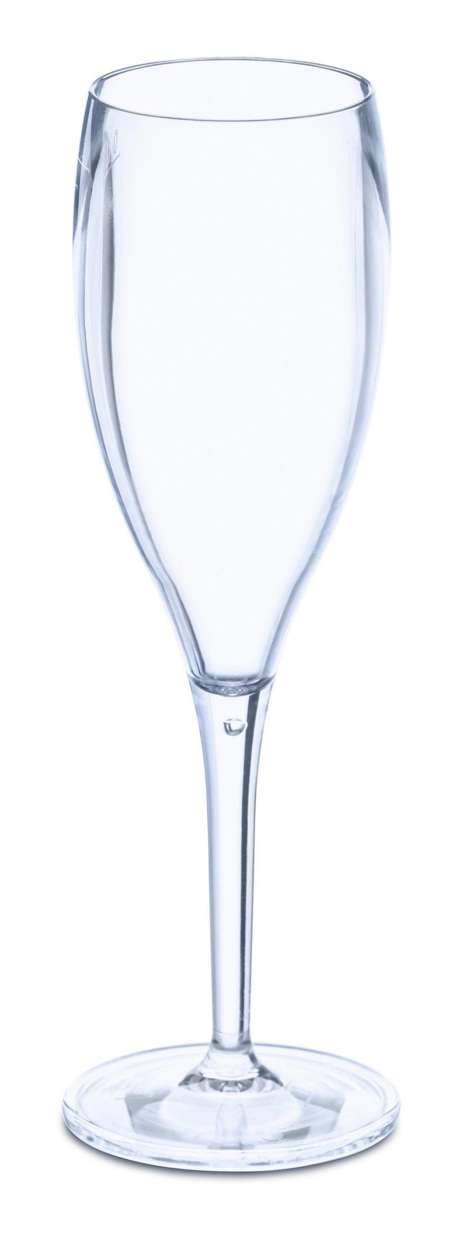 Kieliszki do szampana Cheers 4 szt. transparentne niebieskie